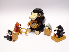 Niffler with babies (LuisPG2015) Tags: niffler lego