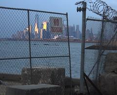 NY Skyline 382 (stevensiegel260) Tags: newyork newyorkskyline manhattanskyline twilight sunset pier dock wharf abandoned ruin