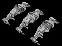 Mini B-Wing colour variants (Cpt. Ammogeddon) Tags: star wars b wing bwing fighter movie space ship vehicle lego moc custom toy kid adult teen brick mini midi scale model film science fiction heavy bomber rebel battle
