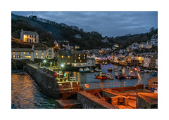 POLPERRO AT NIGHT (Barry Haines) Tags: cornwall polperro night time voigtlander 40mm sony a7r2 a7rii harbour 2019 january handheld cornish sea sky woods homes flickrsbest