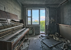 I never really liked Chopin (Szydlak Szk) Tags: flickr ghost town abandoned flat block flats piano music instrument window balcony clouds disaster nuclear derelict decay decayed decaying defunct deteriorated desolate dead destroyed decline dilapidated dirty trashed forgotten forlorn fotografia forsaken urbex urban urbanexploration architecture interior exploration exterior soviet city fortepian sad sadness sadworld nostalgia pripyat zona verlassene orte övergiven