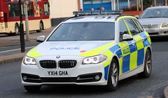 YX14 GHA (Ben - NorthEast Photographer) Tags: humberside police bmw 530d 5series traffic car motor patrols rpu roads policing unit hull city sheffield wednesday football team teams footy patrol patrolling convey escort fans players kc stadium coaches buses 14plate yx14 gha yx14gha