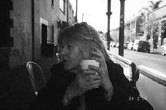 coffee and cigarettes (homesickATLien) Tags: 35mm film art kodak expired mjuiii olympus analog melbourne victoria australia expression city cbd spirituality harmony dependency wisdom bw black white coffee cigarette caffiene tobacco age