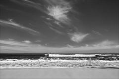 phillip-island-2104-ps-w (pw-pix) Tags: surfer surfing break beach waves foam chop ripples breaking breakers surf whitewater ocean water bassstrait lookingsouth sky clouds landscape seascape bw blackandwhite monochrome sonya7 irconvertedsonya7 850nminfrared ir infrared spring warm sunny coast coastal phillipislandnaturepark capewoolamibeach capewoolami phillipisland westernport victoria australia peterwilliams pwpix wwwpwpixstudio pwpixstudio