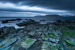 At the beach (Tómas Freyr) Tags: grundarfjordur iceland kirkjufell beach clouds fjara landscape landslag longexposure ocean sea sky water