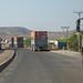 Trucks coming from djibouti port, Afar region, Logiya, Ethiopia