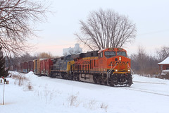 The Shift (view2share) Tags: bnsf8252 gecx7336 bnsf bnsfrailway burlingtonnorthernsantafe ge generalelectric es44c4 c408w csx csxt gecx locomotive dash8 heritage3 heritage westernwisconsin westbound midwest 517 l517 cn517 cnl517 cn canadiannational cold winter wisconsin wi snow snowfall snowcover lease leaser newrichmond stcroixcounty siding sidetrack railway railroading railroads rring rr rail rails railroad railroaders track transportation trains tracks train transport trackage trees freighttrain freight freightcar freightcars deansauvola march92019 march2019 march 2019