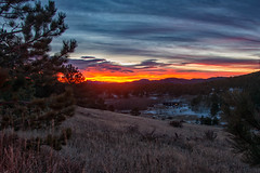 Winter Morn (RkyMtnGrl) Tags: landscape nature scenery vista valley mountain trees pines aspens silhouettes clouds sunrise daybreak winter solstice allenspark colorado 2018