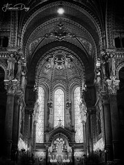 The apse of Basilica of Notre-Dame de Fourvière (*Checco*) Tags: ancient antique apse arch architecture art background basilica building candles cathedral catholic chapel christ christian christianity church column culture decoration europe famous fourviere france god gothic hall heritage historic historical history holy indoor inside interior landmark light lyon majestic medieval monument notredame old religion religious spirituality stone structure style travel window windows