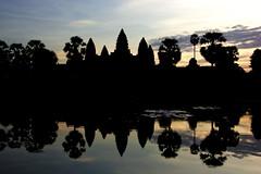Angkor (Jamie B Ernstein) Tags: angkorwat cambodia dawn sunrise reflection reflexions nikon southeastasia asia temple complex