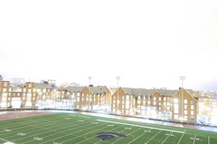 Ridiculously overexposed picture of CWRU track and village (jvvg) Tags: cleveland cwru overexposed