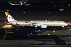 A6-BLT Etihad Airways Boeing 787-9 Dreamliner (buchroeder.paul) Tags: eddl dus dusseldorf international airport germany europe ground night a6blt etihad airways boeing 7879 dreamliner