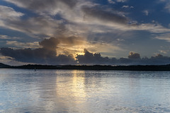 Early Morning Sun Rays Waterscape (Merrillie) Tags: daybreak woywoy landscape nature bay reflections foreshore newsouthwales clouds earlymorning nsw brisbanewater australia cloudy morning coastal water outdoors waterscape sunrise centralcoast sky dawn