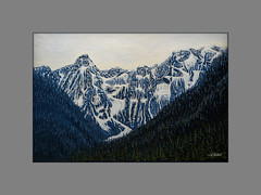 Evans Valley Painting (Maclobster) Tags: evans valley golden ears mt edge gold creek oil painting