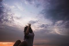 Sky (vlkvaph) Tags: portrait minimalism light 20mm canonukraine vscoukraine vscokharkov vscocam vsco canon cute pretty photography photo female model woman girl clouds cloud sundown skyline sky