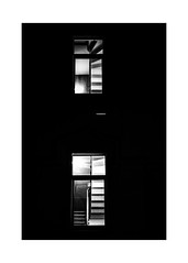 looking through two windows (Armin Fuchs) Tags: arminfuchs berlin night windows niftyfifty staircase kreuzberg