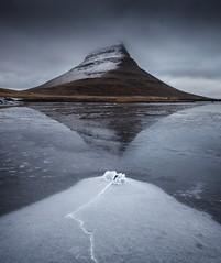 Broken Arrowhead (Dan Portch) Tags: kirkjufell iceland arrowhead mountain landscape fineart overcast moody dramatic reflection snaefellsness