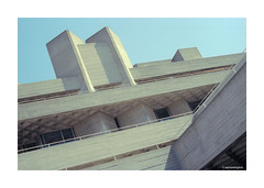 NT Southbank Portra © (wpnewington) Tags: om2n kodakportra400 film analog analogue portra kodak olympus colour southbank london brutal architecture brutalism
