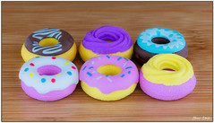 Donuts anyone ? 😊 (Bear Dale) Tags: ulladulla southcoast new south wales shoalhaven australia beardale lakeconjola fotoworx milton nsw nikond850 photography framed nikon d850 nikkor afs micro 105mm f28g ifed vr colour color colourful colorful pattern patterns macro closeup donuts donut pencil rubbers rubber