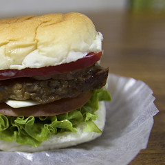 Mini Burger (Synghan) Tags: miniburger burger hamburger minihamburger eating taste tastes sideview bread lunch snack photography square indoor colourimage fragility freshness nopeople foregroundfocus adjustment interesting awe patty beef parisbaguette delicious palatable good canon eos80d 80d sigma 1770mm f284 dc macro lens 미니버거 미니햄버거 버거 햄버거 파리바게트