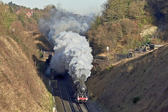 Flying Under (Deepgreen2009) Tags: smoke exhaust britannia br standard stem uksteam cutting hooley surrey frost cold winter 70013 olivercromwell