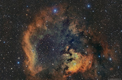SH2-171 and a rare jewel (hubble palette) (Terry Hancock www.downunderobservatory.com) Tags: qhy qhy128c qhy11 sky space astronomy astrophotography cosmos astroimaging
