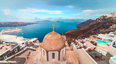 Fira, Santorini Greece (T is for traveler) Tags: green fira santorini greece travel tourism mediterranean thira greek city town view architecture village panorama house landscape urban cityscape houses blue sea building europe buildings sky old hill ocean tradition destination day panoramic island white freedom nopeople traditional restaurant cliff areal skyline canon 5d markii samyang 14mm