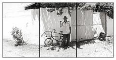 SERGIO ROMERO / Jardinero (ORANGUTANO / Aldo Fontana) Tags: chile regióndelmaule linares sergioromero jardinero trabajador worker retrato portrait people gente blancoynegro blackandwhite muro wall persona hombre man aldofontana orangutano flickr bicicleta bike