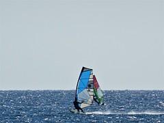 Duo. (Ia Löfquist) Tags: crete kreta surfing surfa windsurfing vinsurfing board bräda windsurf sea hav freedom frihet