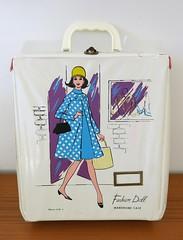 Vintage Miner Industries Fashion Doll Wardrobe Case - 1960s (hmdavid) Tags: vintage fashion antiquescolony sanjose california miner doll wardrobe carrying case midcentury art illustration mod 1960s vinyl