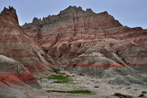 Colored Layers and Badlands Formation (Badlands National Park)