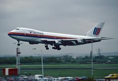 N4718U (wiltshirespotter) Tags: boeing 747 747100 united heathrow lhr