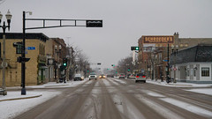 Thursday Morning Snow (Lester Public Library) Tags: downtowntworivers downtown tworiverswisconsin tworivers snow wisconsin buildings mainstreet washingtonstreet street streetlights lesterpubliclibrarytworiverswisconsin wisconsinlibraries readdiscoverconnectenrich