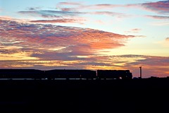 Coasting by at Sunset (MikeArmstrong) Tags: sunset train coaster san diego torrey pines del mar pacific ocean commuter