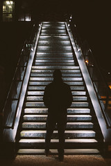 NOV-17 In The Evening (Gregory Criteau) Tags: 365 self portrait stairway train station night