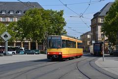 Waggon Union GT6-80C #520 (LukaszL99) Tags: karlsruhe tram tramwaj strasenbahn gt6 gt680c waggon union avg albtalverkehrsgesellschaft mbh niemcy germany deutschland fahrschule