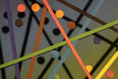 Dots, stripes and their shadows, for MM (Wim van Bezouw) Tags: macromondays dotsandstripes macro sony ilce7m2 paper stripes dots shadow glass