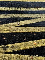 Strictly NO parking (gingerbudbomb) Tags: roadpainting no minimalist badday streetlife aposematism yellowandblack ukroadmarkings roadmarkings urban noparking