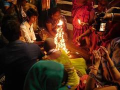 varanasi 2017 (gerben more) Tags: aarti varanasi benares man ceremony prayer india