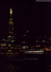 London by Night (Ellacott Photography) Tags: london nighttime riverthames theshard cityscape landscape architecture editing lightroom photography nikond3100