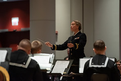 Navy musicians present at Midwest Clinic (United States Navy Band) Tags: education music outreach people brass midwest clinic chicago illinois usa