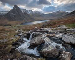 Tryfan, Snowdonia (John J Buckley) Tags: ogwenvalley autumn cwmidwal snowdonia landscape waterfall tryfan afonlloer llynogwen wales