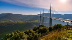 MILLAU et son viaduc (France) (A.L PH) Tags: millau aveyron poselongue d850 viaduc pont à haubans vallée du tarn