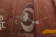 FLAK (TheGraffitiHunters) Tags: graffiti graff spray paint street art colorful benching benched freight train tracks boxcar moniker streak flak