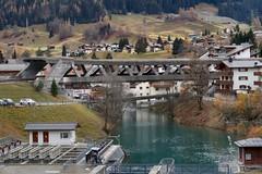 RhB Klosters - Landquartbrücke IV (Kecko) Tags: 2018 kecko switzerland swiss schweiz graubünden graubuenden gr klosters platz prättigau davos rhätischebahn rhaetian railway railroad bahn viafierretica rhb landquart brücke bridge maag maillart fluss river swissphoto geotagged geo:lat=46868700 geo:lon=9879940