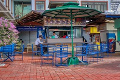 Courtyard (Beegee49) Tags: street downtown eatery cafe snack bar security guard food bacolod city philippines