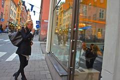 Sodermalm's beauty... (Inspired Snob) Tags: stockholm sweden sodermalm windown shopping cafe streetlife
