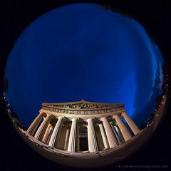 The Parthenon, Nashville [6775] (josefrancisco.salgado) Tags: centennialpark d5 fisheye8mmf28ais nashville nikkor nikon partenón tennessee theparthenonnashville usa unitedstatesofamerica architecture arquitectura bluehour circularfisheye crepúsculo evening twilight us
