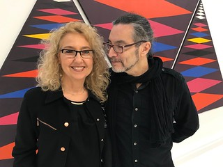 Just arriving from Paris: Artists Karim Borjas and Annette Turillo