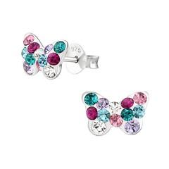 Nouvelles boucles d'oreilles Papillon en argent incrustées de cristaux multicolores 💎 A découvrir ici ▶︎ https://ift.tt/2OJGchL (Bijoux Bijoux) Tags: bijoux enfant argent